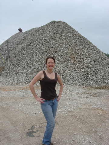 Checked out the Oyster Shell Mound in Bayou La Batre