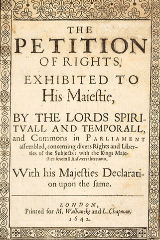 Petition of Rights Signing