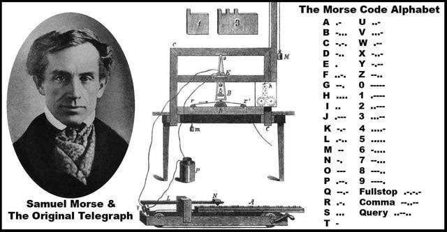 Samuel Morse invents morse code