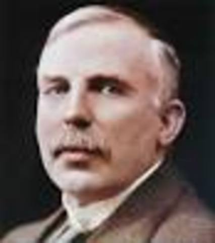 Ernest Rutherford discovered protons in the nucleus.