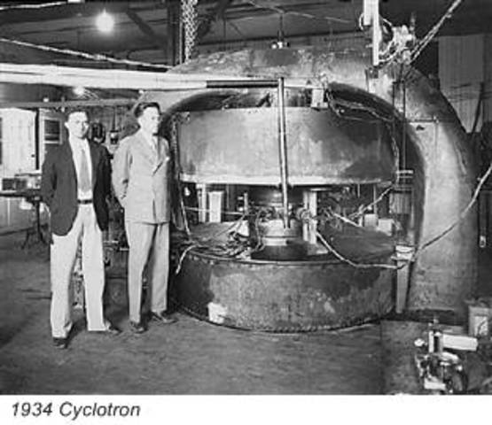 J. D. Cockroft and Ernest T. S. Walton worked together in splitting the atom when working with lithium which they bombarded with protons.