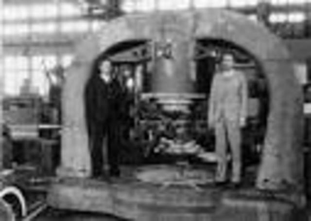 Ernest O. Lawrence, Milton Stanley Livingston and Milton White worked on the first cyclotron at the University of California in Berkeley.
