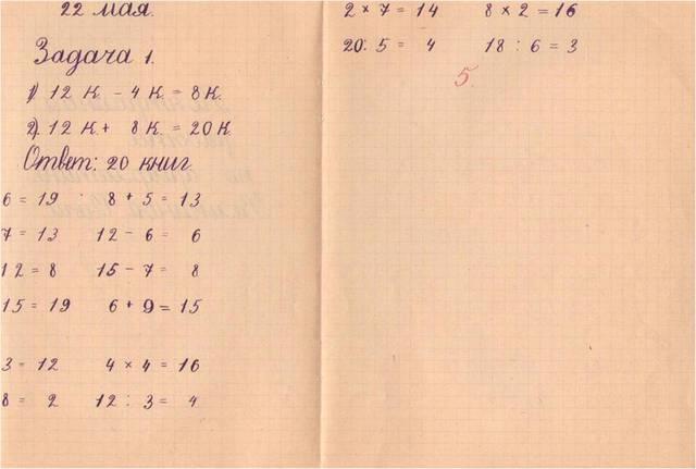 Контрольная работа по арифметике ученицы 2 «А» класса Велькиной Оли