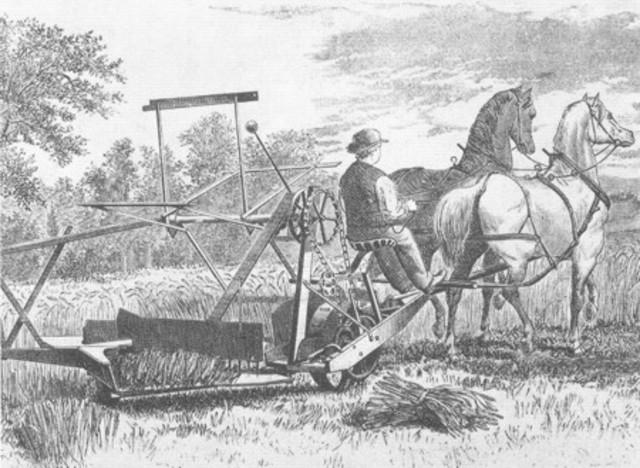 McCormick patenta la segadora mecánica