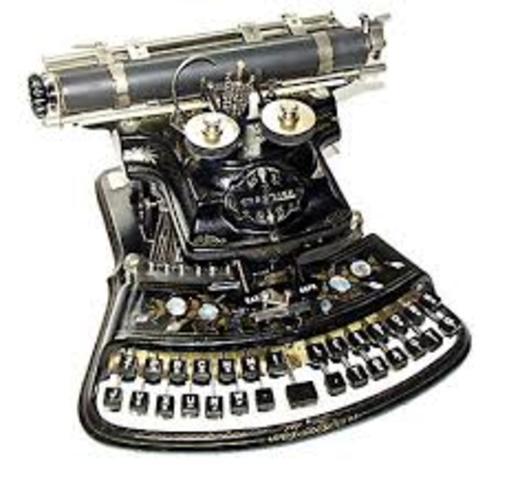 Primera maquina de escribir con principios modernos