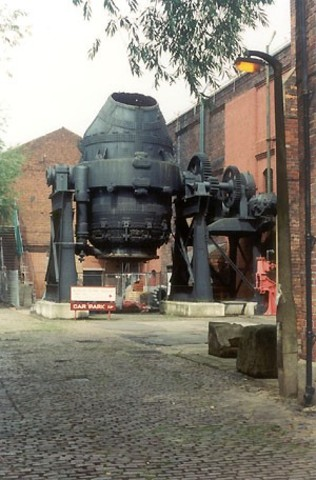 Steel converter .