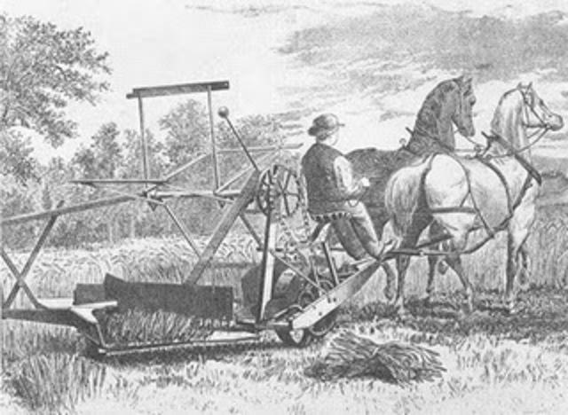 Mechanical mower.