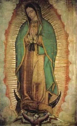 Aparición de la Virgen de Guadalupe.