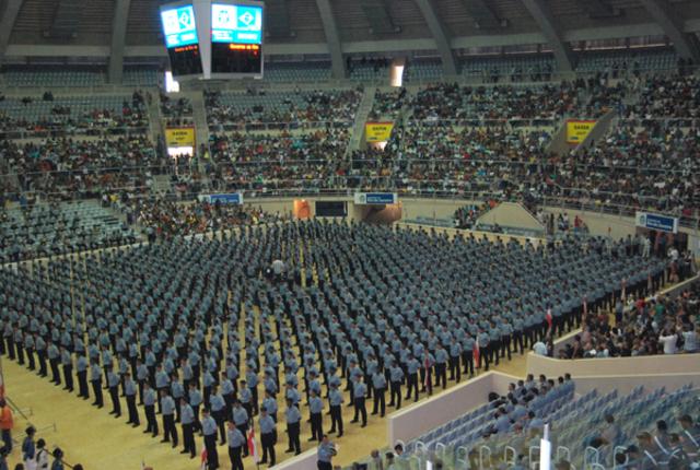 Formatura de 1.020 policiais militares futuros integrantes das UPPs