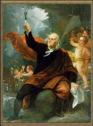 Benjamin Franklin's Kite Experiment (Date Unknown)