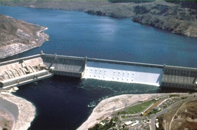 Construction of the Grand Coulee Dam (One of the Largest Hydroelectric Dams)