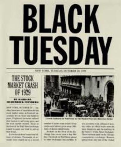 "Stock Market Crash ""Black Tuesday"""