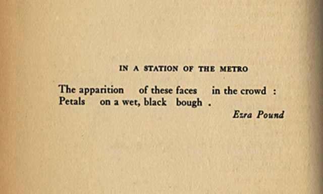 """""""In the Station of a Metro"""""""