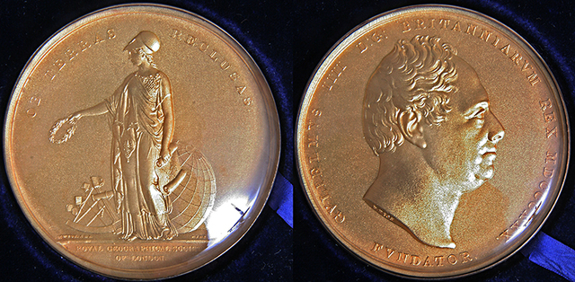 Awarded Royal Geographical Society Founder's Medal