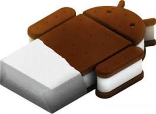 Android 4.0.1 ice cream sandwicht