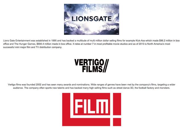 Film company research