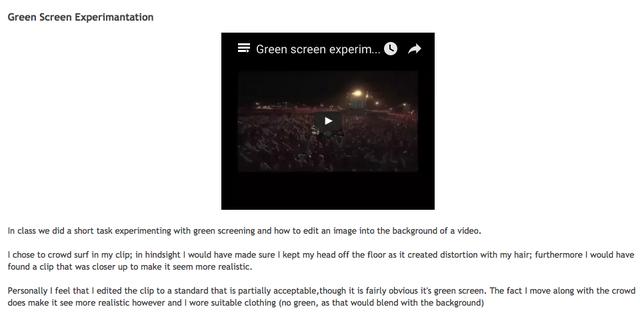 Greenscreen editing