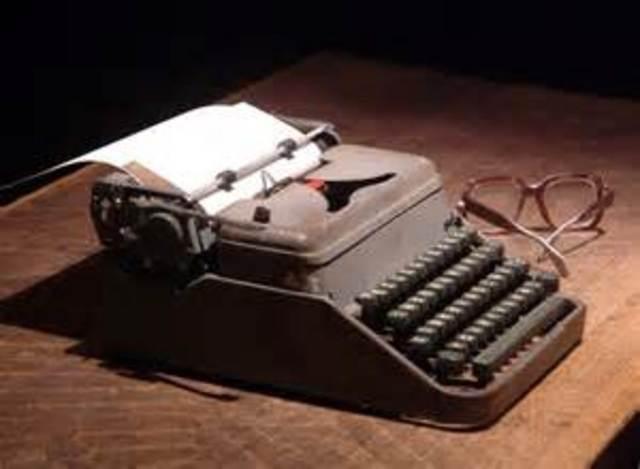 Máquinas de escribir para gente ciega