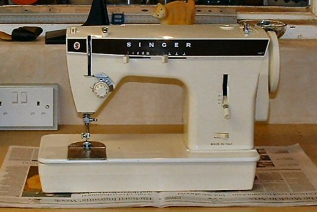 First electronic sewing machine