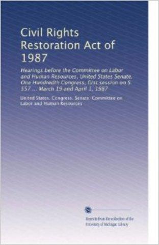 Civil Rights Restoration Act