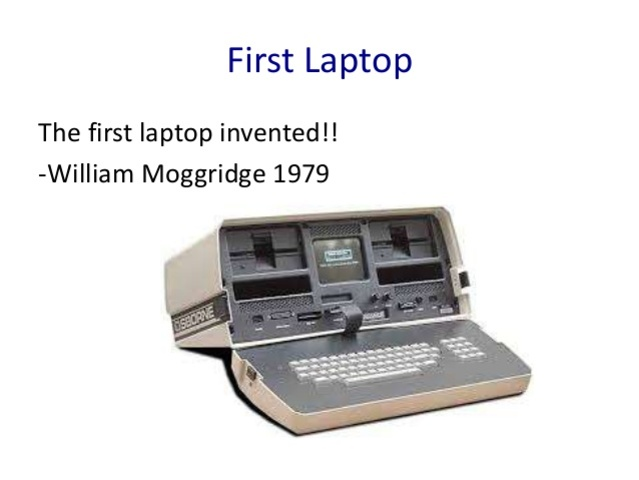 First laptop computer designed