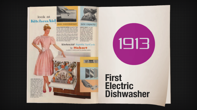 First electric dishwasher