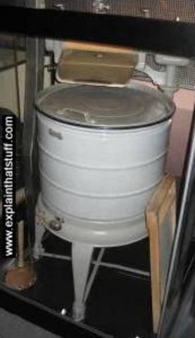 First washing machine invented