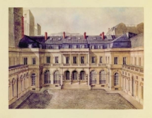 Jacob M.R. establece el banco Rothschild Freres en Paris, Francia.