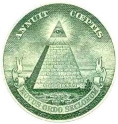 """Roosevelt imparte la orden de incluir en el dolar, el ojo que todo lo ve y el lema """"Nous Ordo Seclorum"""""""