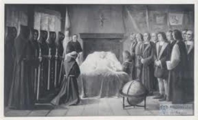 La muerte de Cristóbal Colón