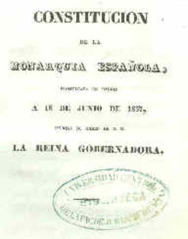 S'aprova la constitució Espanyola de 1837