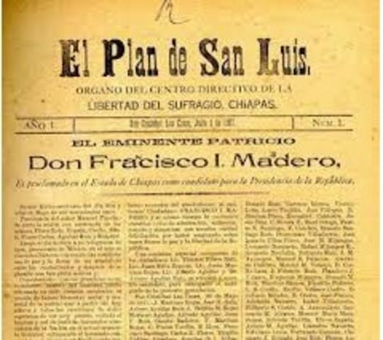 el Plan de San Luis Potosí