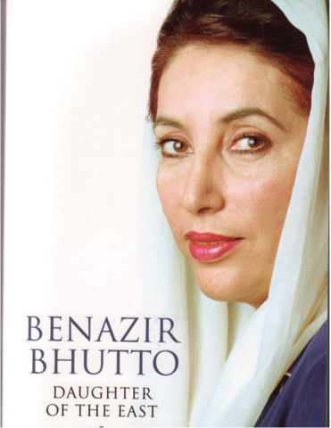Benazir Bhutto, the 1st female Prime Minster of Pakistan, was killed.