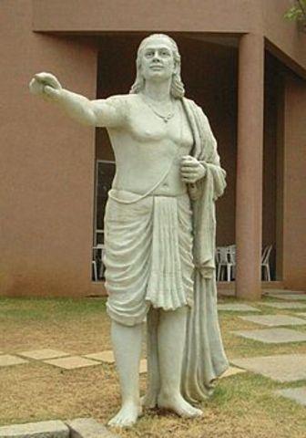499 г. — в астрономическом трактате Ариабхата решил в целых числах неопределенное уравнениеах+bу=с.