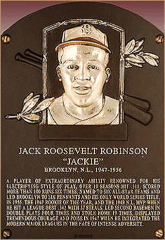 Jackie Robinson was inducted into the 1962 Baseball Hall of Fame
