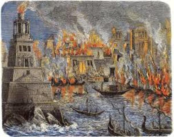 La destrucción de la biblioteca de Alejandría