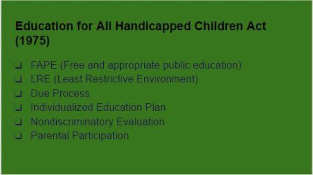 Education for All Handicapped Children (EHA)