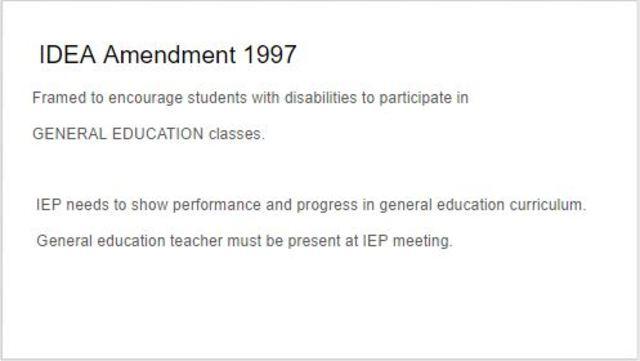 IDEA Amendment 1997