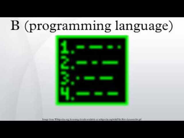 B Language