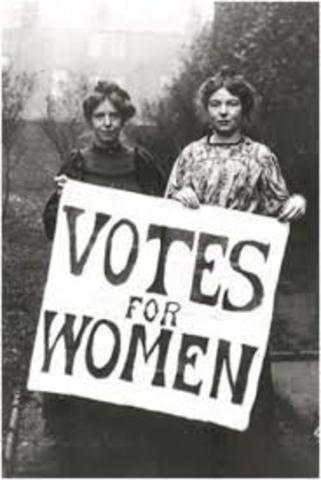 Nineteenth Amendment Grants Women The Right To Vote (Chapter 9)
