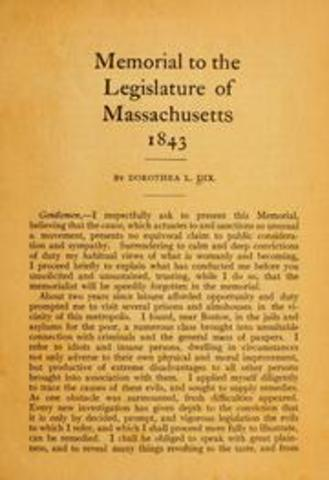 Memorial to the Legislature of Massachusetts