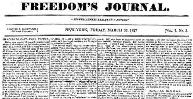 First African American newspaper