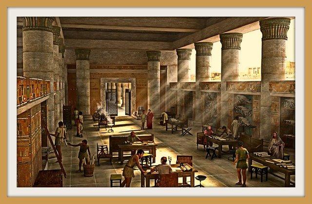 Destrucción de la Biblioteca