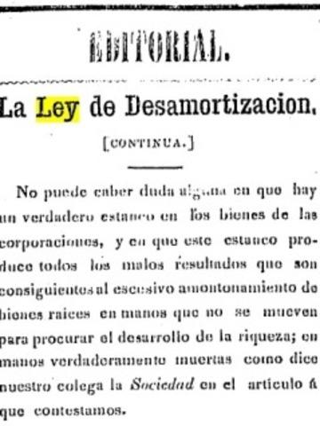 Ley de Desamortización