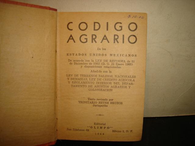 Código Agrario.