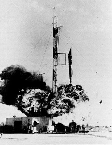Vanguard TV-3 Satellite explodes