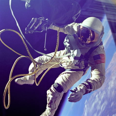 Ed White is the first American to Walk in Space