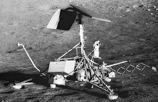 Surveyor 1 lands on the Moon