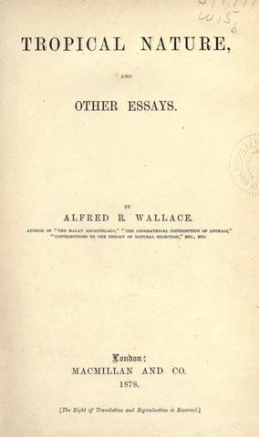 Published Tropical Nature and Other Essays