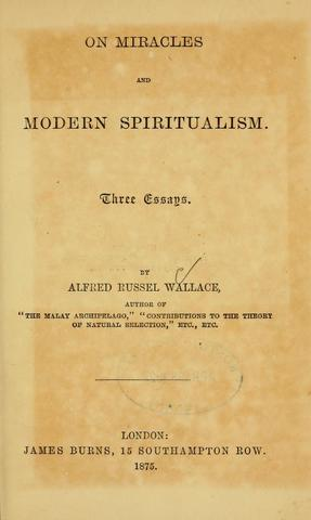 Published On Miracles and Modern Spiritualism
